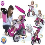 triciclo evolutivo bebé Baby Trike Easy Evolution marca feber color rosa